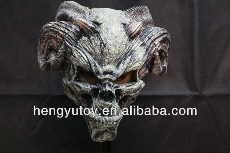 Hot Selling Realistic Full Head Demon Horror Mask Celebrations Party Adult Cap Halloween Mask