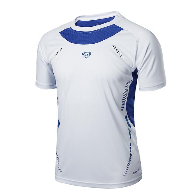 Running Shirt Men Tops Tees Sport O-neck T-shirt Splicing Short Sleeve Gym Training workout Shirts Breathable Sportswear Jerseys