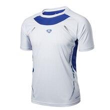 Running Shirt Men Tops Tees Sport O-neck T-shirt Splicing Sh