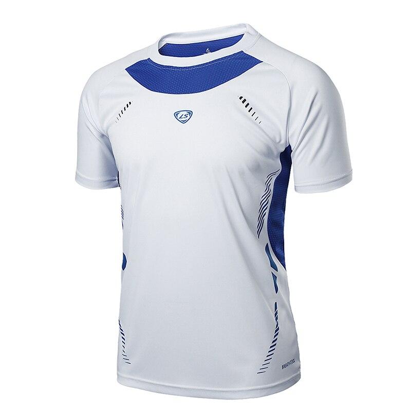 Shirt de course Hommes Tops T-shirts Sport O-cou T-shirt Épissage Manches Courtes Gym workout Shirts Respirant de Sport Maillots