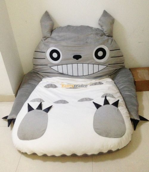 Fancytrader Cute High Quality Totoro Bed 190cm X 130cm Super Cute Huge Giant Totoro Bed Tatami Carpet Sofa Free Shipping FT90191