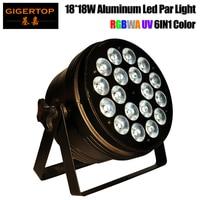 Tiptop 18x18 w rgbwap 6in1 fase de cor led par luz caso de alumínio redondo lente de 25/40 graus 3pin xlr eua/ue/au caso do vôo opcional flight case led par light par light -