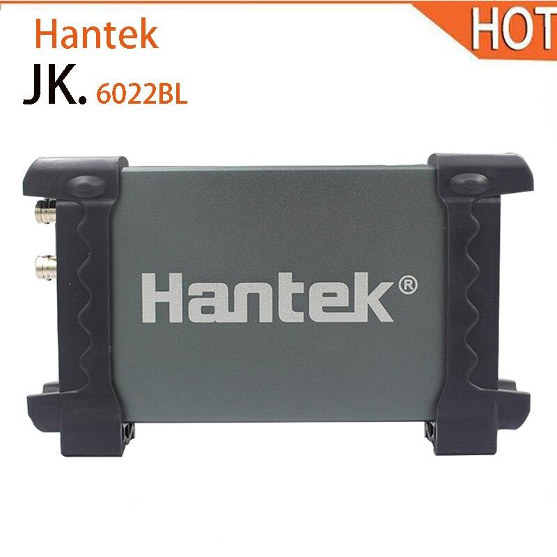 Hantek 6022BL USB осциллографы цифровой портативный 2 канала 20 мГц Osciloscopio portátil PC 16 каналов логический анализатор автомобиль-детектор