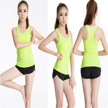 Tank Tops A-Shirt Basic Workout Sports Vest Women Gym Running Yoga Active Wear Vest(China)