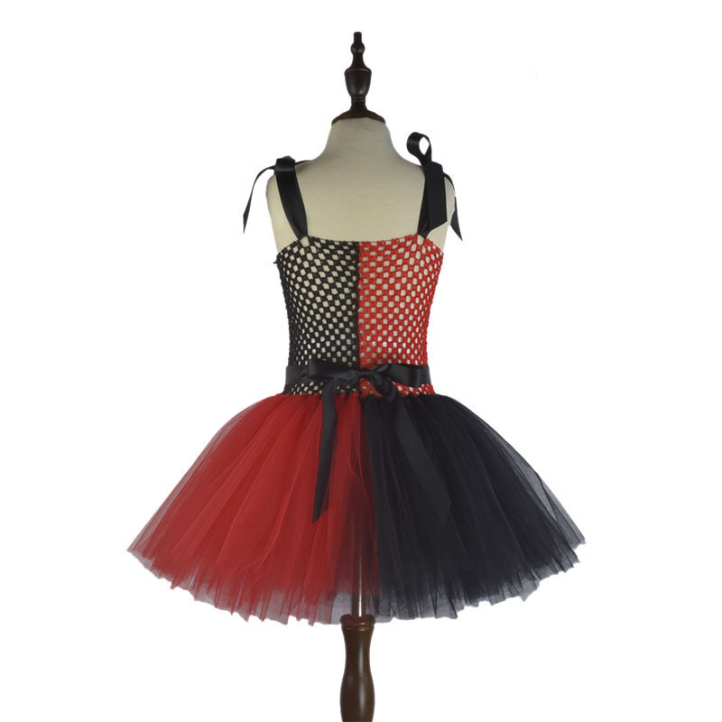 Cute Toddler Girl Clothes Summer 2018 Halloween Costume Tutu Fille Cosplay 2 To 8 Ans Red and Black Child Dress for Girls Kids