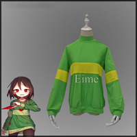 Game Undertale Chara Cosplay Costume Halloween Unisex Full Sleeve Sweatshirts Casual Pullover Tops High necked Streak Clothes