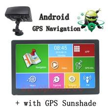 TOPSOURCE Voiture GPS Android Navigation Écran Capacitif GPS Parasol 8 GB DDR800MHZ Europe/USA/Canade Camion gps Navigator 7 Pouce