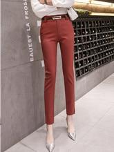 JUJULAND  pencil pants  Business woaman  pants  Office Lady Style trousers with a belt 54291