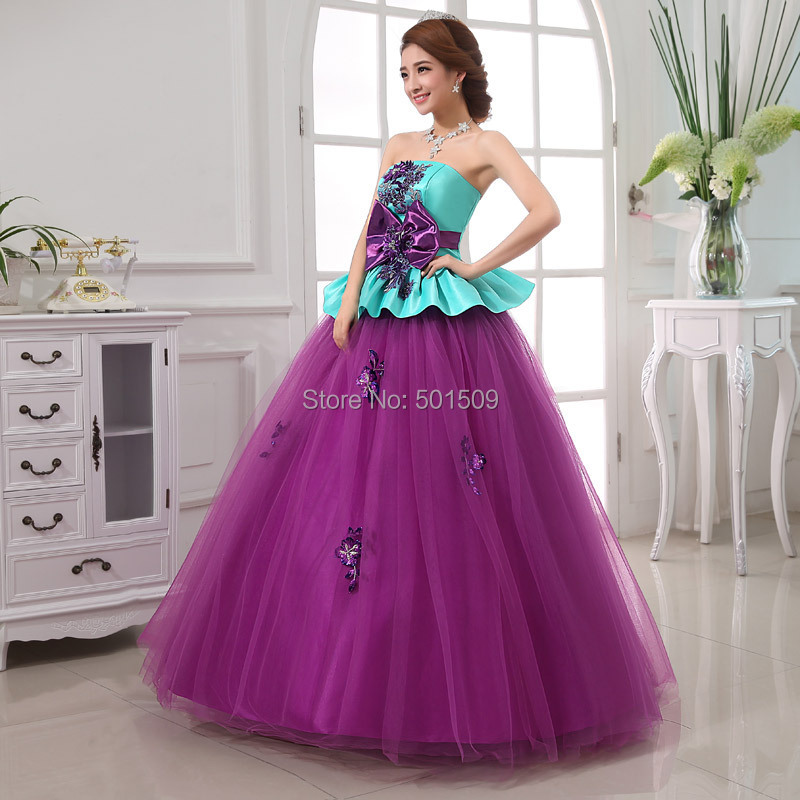 purple bowknot medieval dress Renaissance gown Sissi princess Costume Victorian Gothic/Marie Antoinette/Colonial Belle Ball