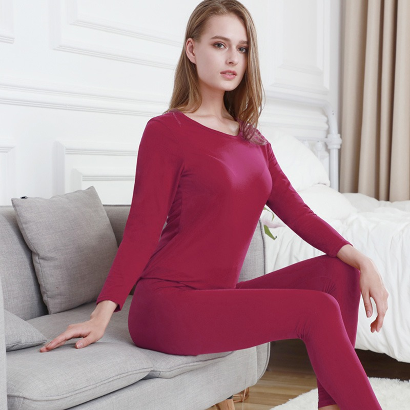 Women Winter Thermal Underwear Fashion Seamless Long Johns For Women Ultra-thin Elastic Female Underwear