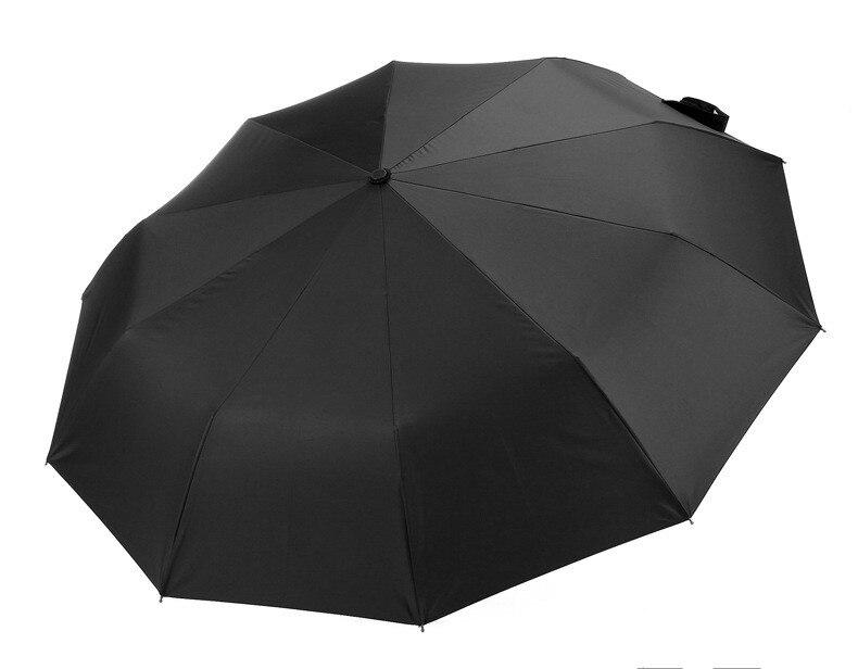 10 Rib Strong Automatic men 39 s umbrellas folding windproof male parasol umbrellas rain three folding in Umbrellas from Home amp Garden