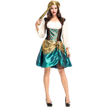 Umorden Womens Gold Coins Pirate Buccaneer Costume Fancy Dress Halloween Carnival Purim New Year Party Cosplay Costumes