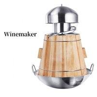 YUEWO 10L Brewery anti stick pot distillation steamer essential oil machine Home Brewing Wine Making 304 stainless steel volume