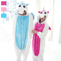Adult Fleece Animal Sleepsuit Pajamas Costume Cosplay Unicorn Onesie Pink Blue Pyjamas Jumpsuits Animal Pyjamas Unicorn