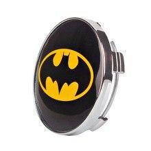 4pcs 60mm Auto Car Tuning Sticker Center Cap for Rims Cover Emblem Wheel Hub Batmen Accessories