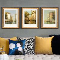 European Style Photo Frame for Living Room 45*55cm Wall Hanging Picture Frame Home Decoration Landscape Painting Picture Frame