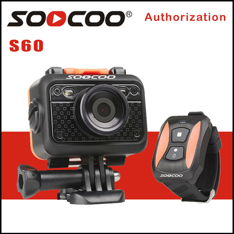 SOOCOO S60 Sport Action Camera Anti-Shock Waterproof Wifi NTK96655 1080P Full HD 170 Degree Lens Wireless Remote Control soocoo 360 degree action video camera wifi 4k 24fps 2 7k 30fps ultra hd sport driving 360 camera with remote control