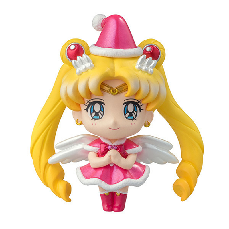 Anime Pretty Guardian Sailor Moon Mercury Venus Jupiter Christmas Special Ver. PVC Action Figure Collectible Model Toys Doll 7cm