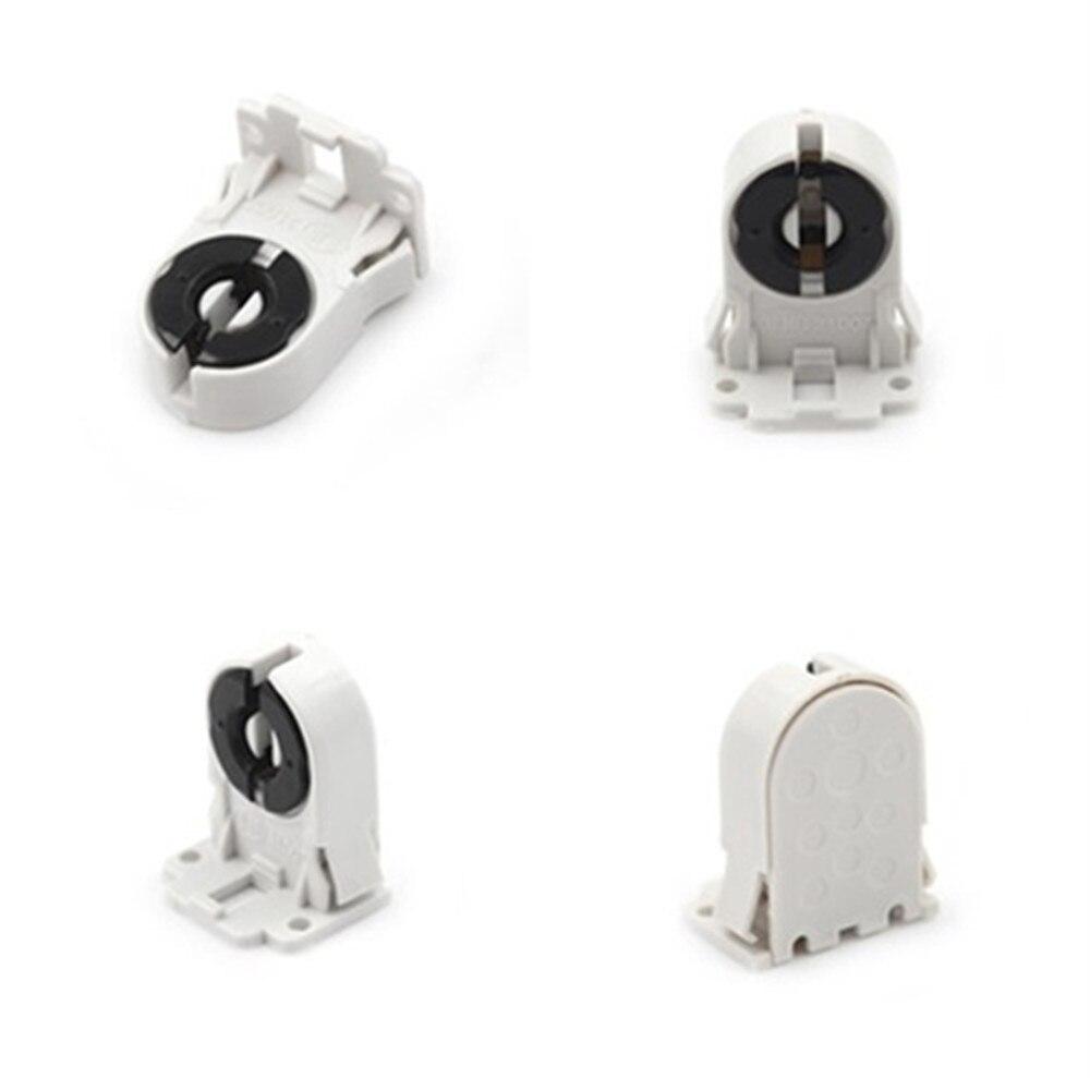 Plastic AC100-250V Holder Suitable ForT8 G13 LED Bracket Lamp T8 Fluorescent Light Socket Lamp Base 1PCS