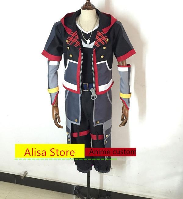 Anime Kingdom Hearts Sora cosplay Costume Any Size hot sale halloween costumes