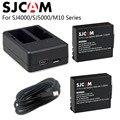 SJCAM SJ4000 Battery+Dual Charger 900mAh Rechargable 3.7V Li-ion Battery SJ4000 WiFi SJ5000 WiFi M10 SJ5000x Elite Action Camera