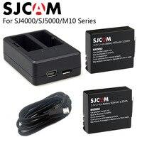 SJCAM SJ4000 Battery Dual Charger 900mAh Rechargable 3 7V Li Ion Battery SJ4000 WiFi SJ5000 WiFi