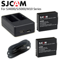 SJCAM SJ4000 Battery Dual Charger 900mAh Rechargable 3 7V Li Ion Battery SJ4000 WiFi SJ5000 WiFi