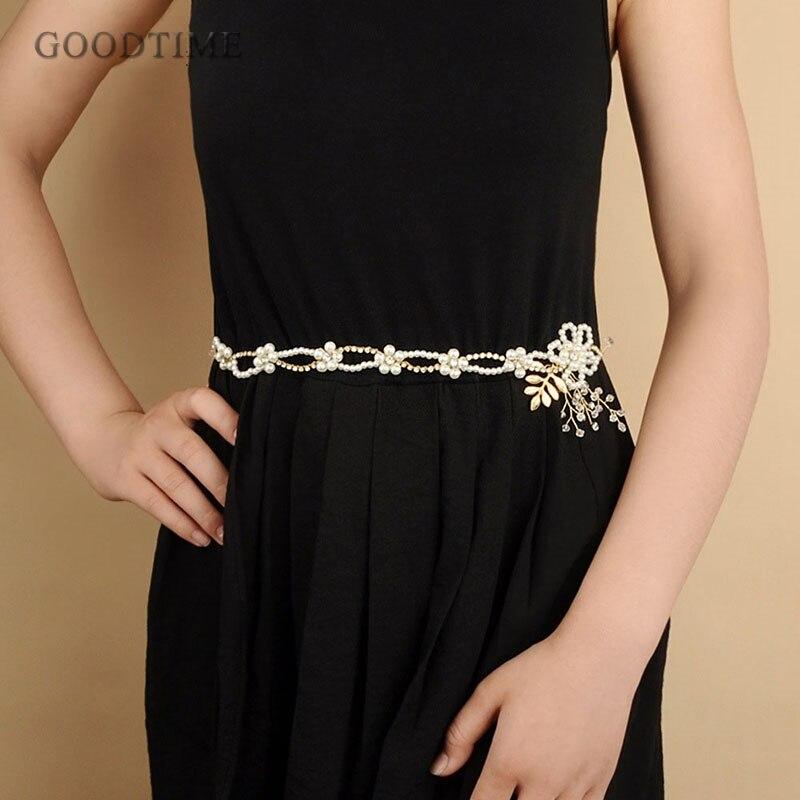 De moda cinturones de novia hacer por con perlas cinturón de oro boda cinturón faja diadema para novia mujeres accesorios de la boda