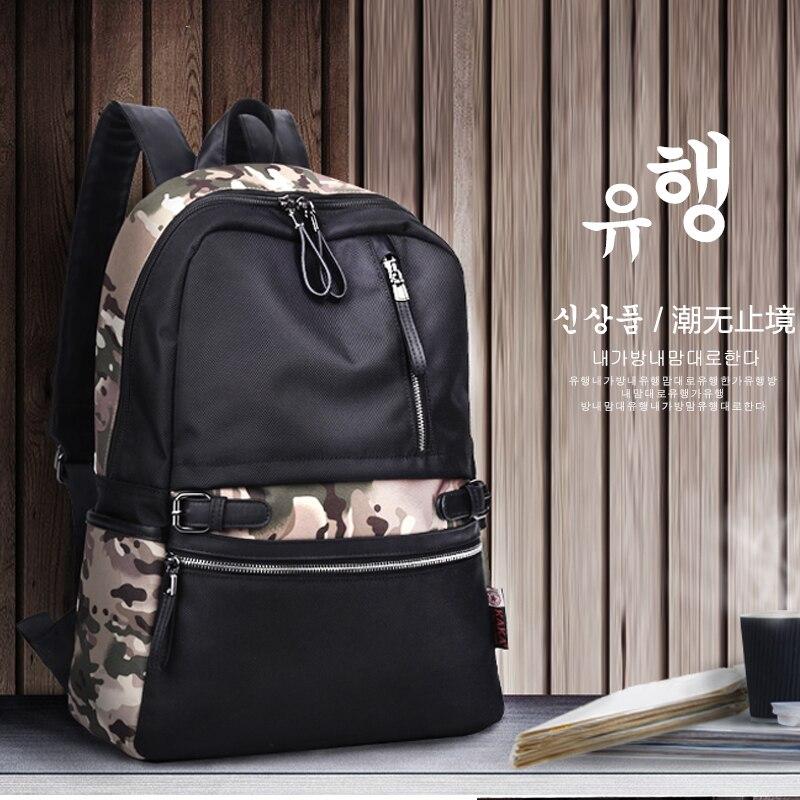 New KAKA Brand 2017 Korean Style Fashion Men Women Backpack Waterproof Nylon School Laptop Backpacks for Teenage Girls Black Bag