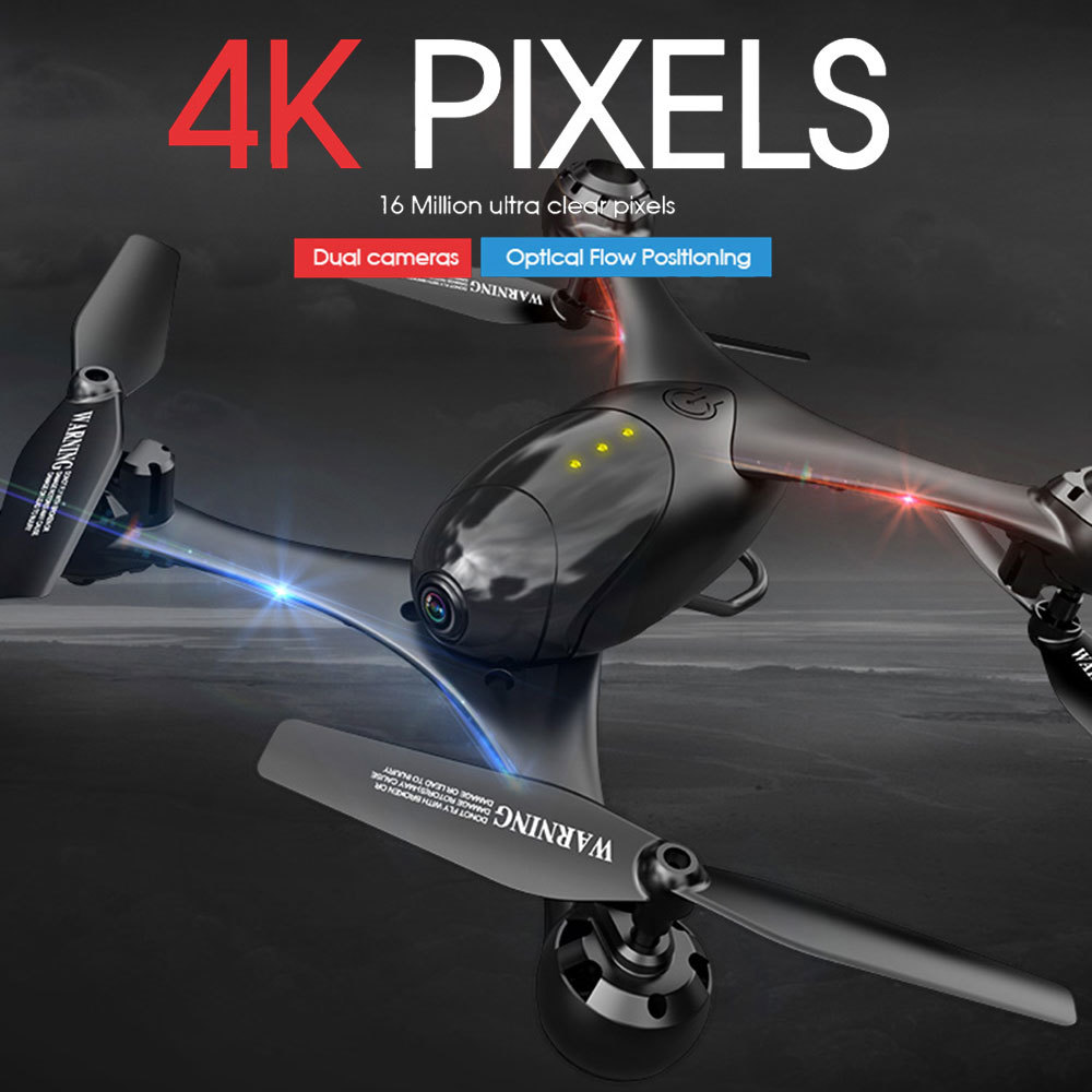 720P 1080P 4K Dual Camera Drone Quadcopter WiFi FPV Selfie Dron Optical Flow Positioning Fixed Height Gravity Sensor Helicopter