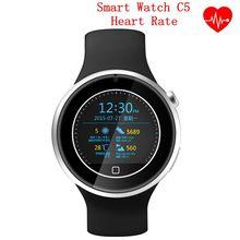 New Smartwatch C5 Leben Wasserdicht Herzfrequenz Tracker Armbanduhr Sport Pedometer Bluetooth 4,0 Smartwatch Für IOS Android-Handy