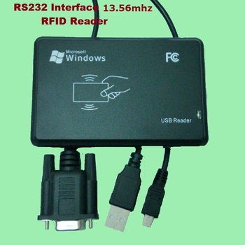 RS232 Inerface 13.56MHZ RFID IC Card Desktop USB Reader Compatible Security Proximity Sensor Smart EM100 Fast Response цена 2017