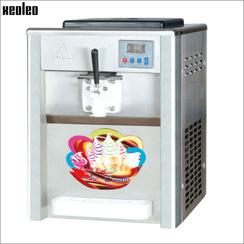 Xeoleo Single flavor Ice cream maker Soft Ice cream machine 18L/H 220V/50HZ R22 Commercial Yogurt machine