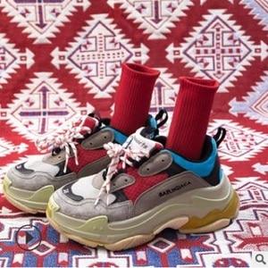 Image 4 - 14 PCS = 7 คู่ถุงเท้าผู้หญิงฤดูใบไม้ร่วงและฤดูหนาวใหม่ผ้าฝ้ายสีสุภาพสตรีสีทึบถุงเท้าผู้หญิง
