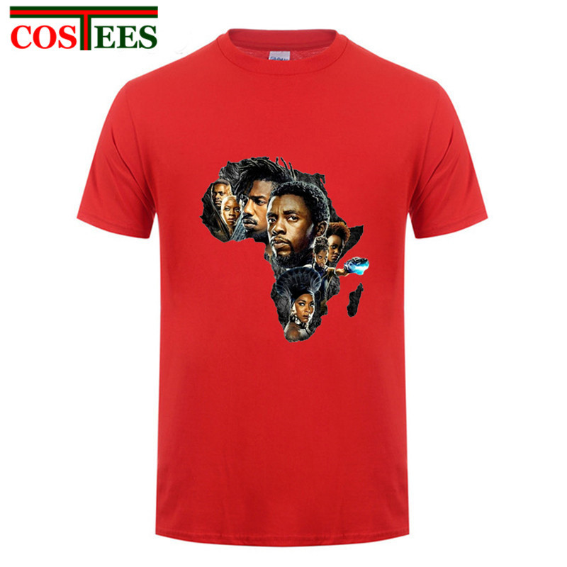 Africa Wakanda Map Black Panther T Shirt character print Civil War Tee T-shirt Men Avengers iron man Fitness Crossfit comics Top