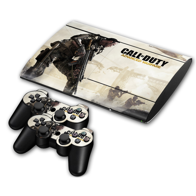 Vinyl Skin Sticker For Sony PlayStation 3 Super Slim Console and Controller Skins - Call of Duty Advanced Warfare