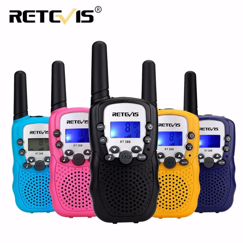2pcs Retevis Rt388 Toy Walkie Talkie Kids Children Radio 0 5w 8  22ch Pmr Vox Lcd Display Mini