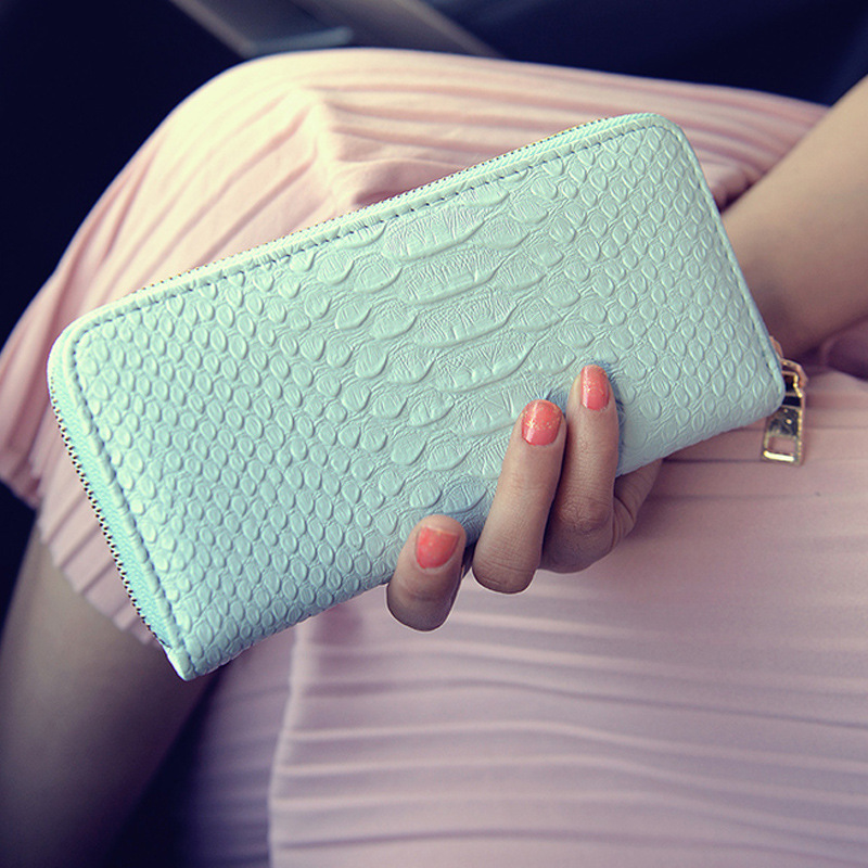 Wallet Female Long Wallets Purses PU leather Crocodile pattern zip passport cover Coin Purse credit card holder women bags B798 hot sale owl pattern wallet women zipper coin purse long wallets credit card holder money cash bag ladies purses