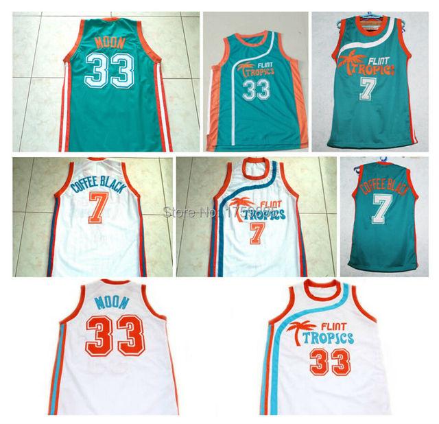 New Arrival Flint Tropics Semi Pro Movie Basketball Jersey  7 Coffee Black   33 Jackie Moon Jersey New Materials Throwback Jersey 1bf28f8c5