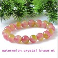 Watermelon crystal beads bead bracelet vanves crystal stone bracelet pink peach fashion jewelry women bracelet wholesale 0237