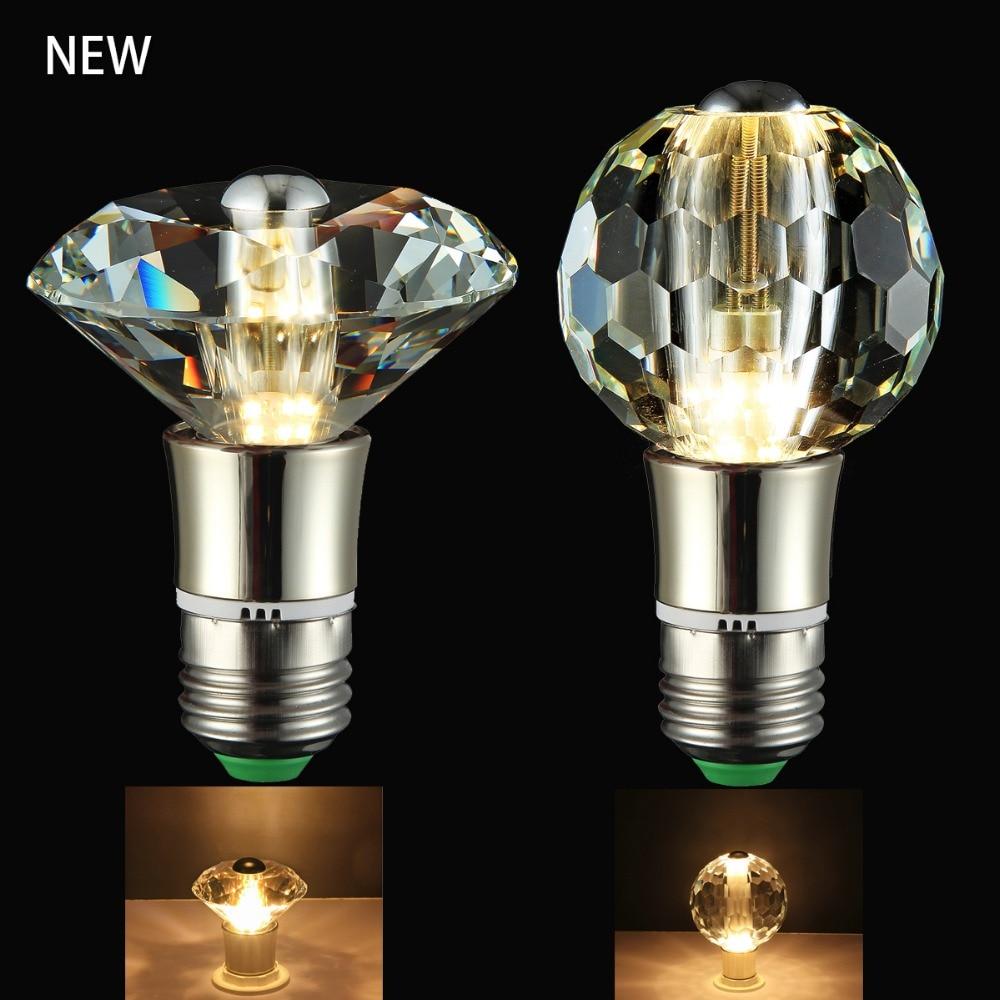 Viewi new crystal bulb light E14 E27 super bright Diamond bulbs globe lights for chandelier lighting led energy saving lamp magic lights 3d colorful light bulbs firework light e27 bulb led energy saving lamp 3d bulb 3 5w light bulb e27 led smd 2835