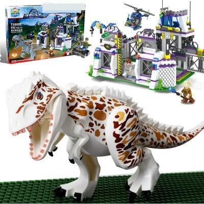 TS8000 Violent Brutal Dinosaur Indominus Rex Breako Jurassic Dinosaur World 826pcs Bricks Building Block Toys Gift For Children майка print bar brutal