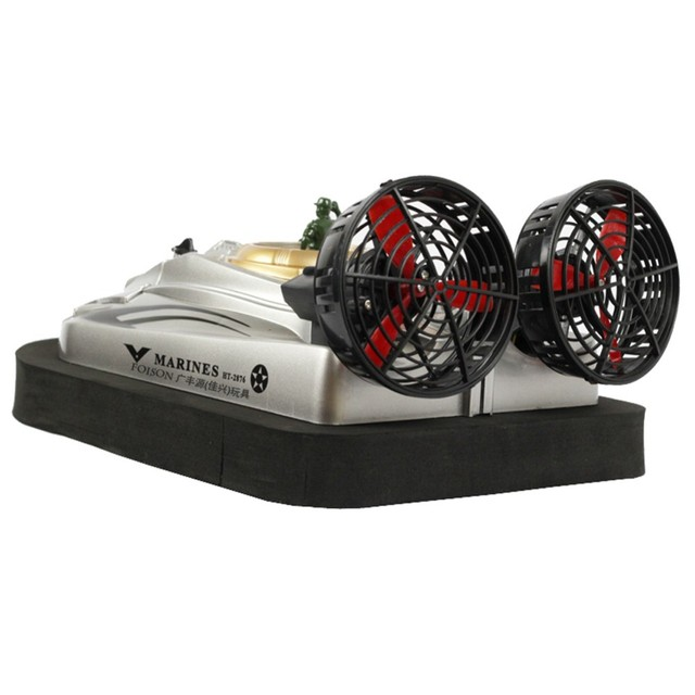 RC Boat 2.4G 1:10 Amphibious air cushion vessel RC Hovercraft Radio Control ir Boat Electronic Water or Land Toys