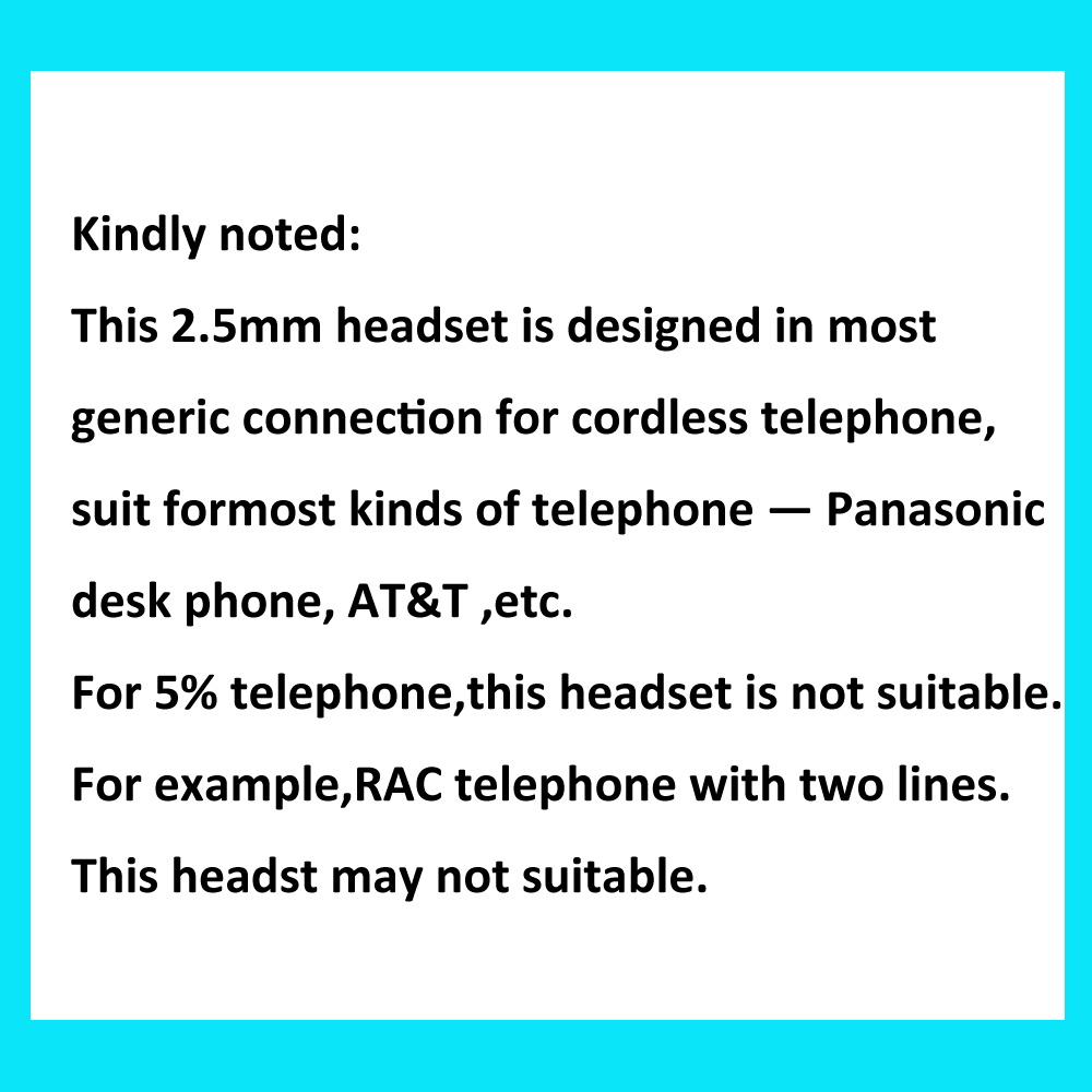 Cheeta 2.5mm Noise Cancelling Binaural Phone Headset With Boom Style Mic  For Panasonic Desk Phones, Most Cordless Phones In Answering Machines From  Computer ...