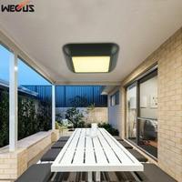 (WECUS) Die cast aluminum ceiling lamps. Outdoor balcony light square ceiling light, modern minimalist aisle LED ceiling light