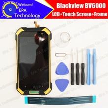 Blackview BV6000 ЖК-дисплей Дисплей + Сенсорный экран планшета + Рамка + наушник сборка 100% оригинал Новый ЖК-дисплей + сенсорный дигитайзер forBV6000