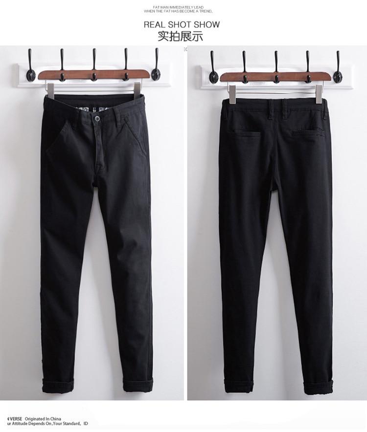 Топ размера плюс 6xl 46 44 48 мужские большие хип-хоп брюки хлопок Новые Большие размеры мужские повседневные брюки - Цвет: black 3