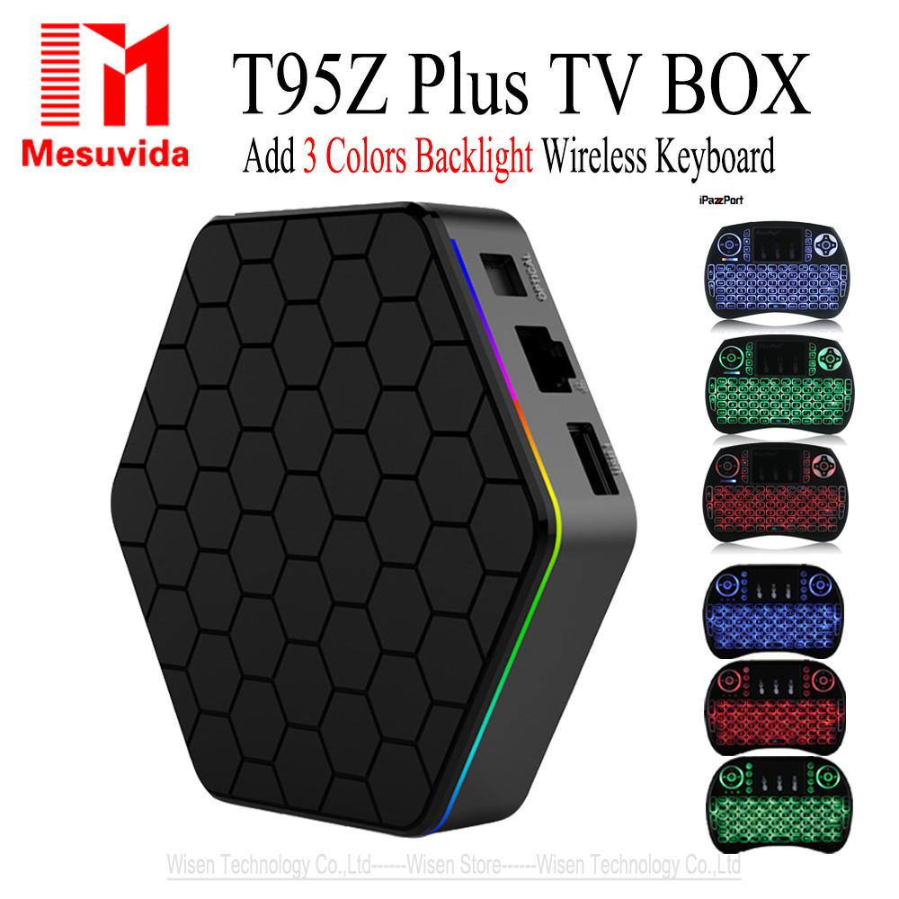 Prix pour MESUVIDA Sunvell T95Z Plus Smart TV Box Android 6.0 Boîte Amlogic S912 4 K x 2 K H.265 Décodage 2.4G + 5G Double Bande WiFi Médias lecteur