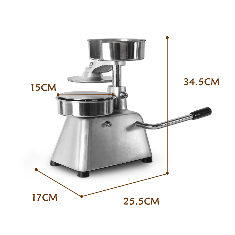 150mm Patty Maker Hamburger Press Forming Machine With 500pcs Burger Paper Round Meat Press Aluminum Alloy Food Processors in Food Processors from Home Appliances