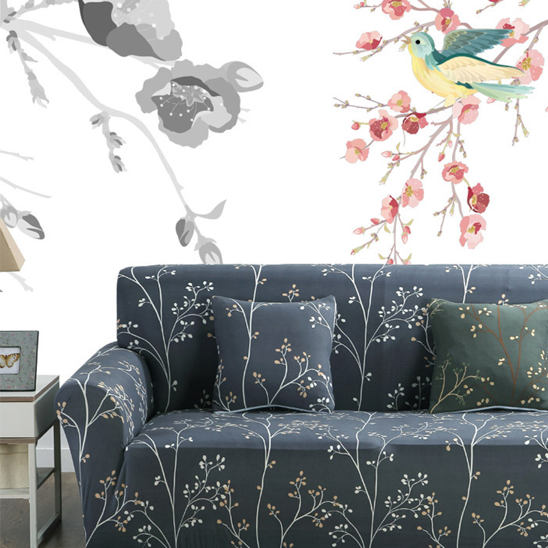 Black Sofa Slipcovers Cheap Creative Plant Printed Sofa Cover Elastic Manta  Para Sofa Housse De Canape Stretch Furniture Covers  In Sofa Cover From  Home ...